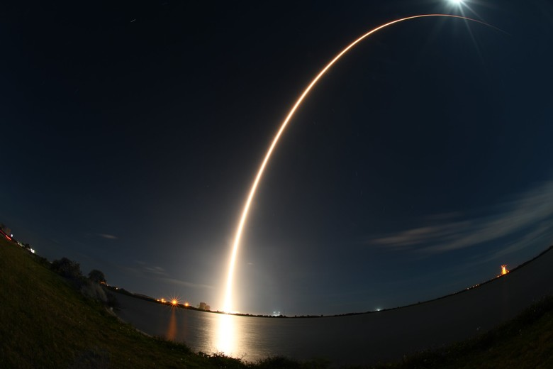 Solar Orbiter was launched from Cape Canaveral on Feb. 10. Photo courtesy of Patrick Air Force Base.