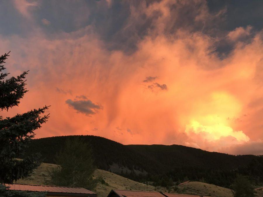 Fiery sunsets lit up many Missoula evenings.