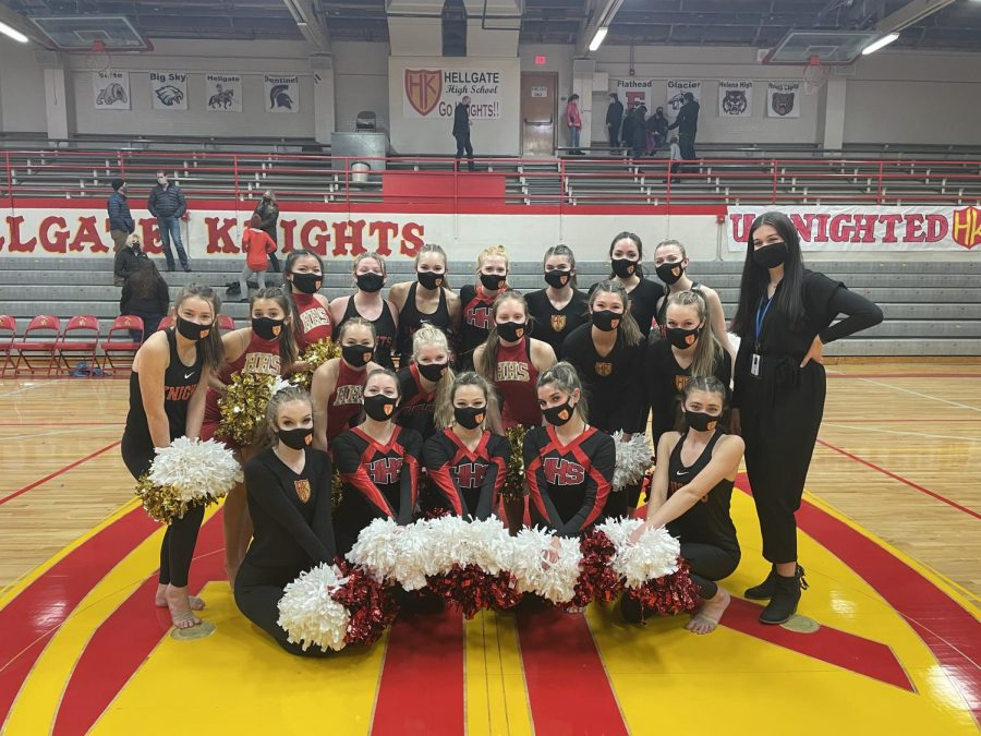 The Hellgate Dance Team poses with coach, Annika Charlson (photo courtesy of Annika Charlson)