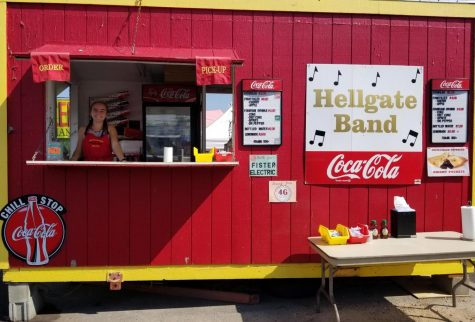 The old band trailer was retired after decades of serving food at the Western Montana Fair. Photo courtesy of October Moynahan.