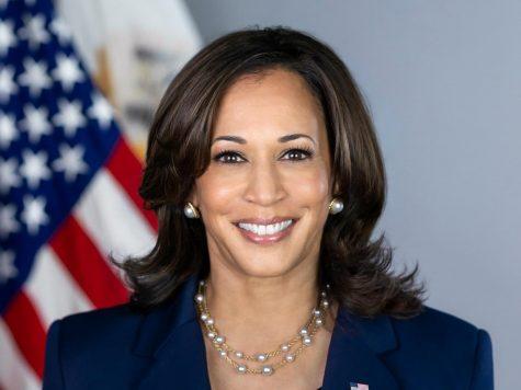 The official White House portrait of Vice President Kamala Harris.